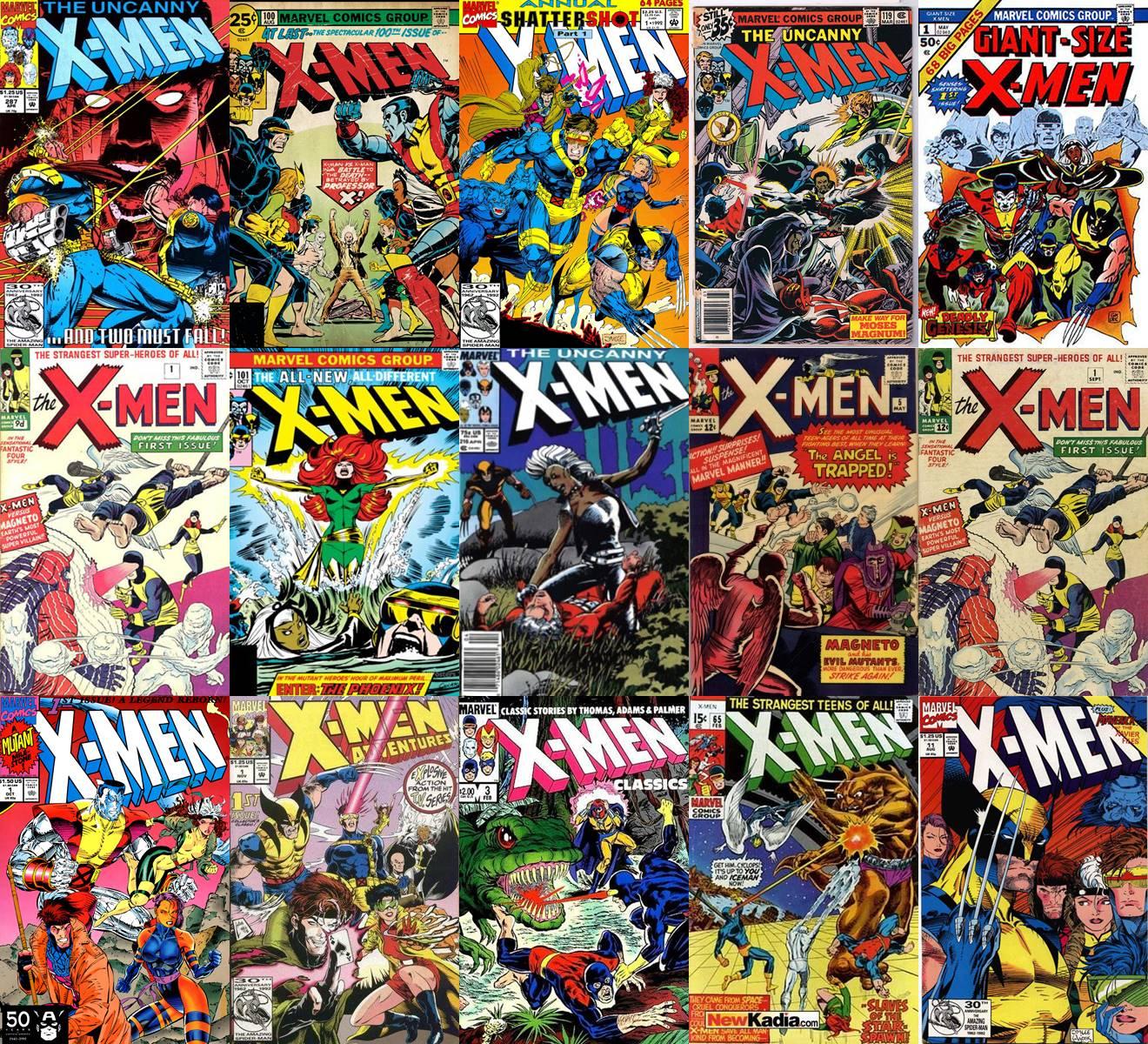 x men comics tile